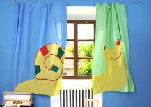 Snail - curtain for kids