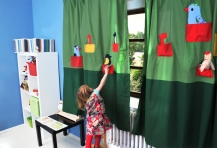 Birds - curtain for kids