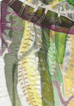Green chiffon - detail