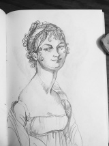 pencil drawing - Ingres inspiration
