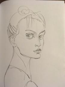 pencil drawing - actress
