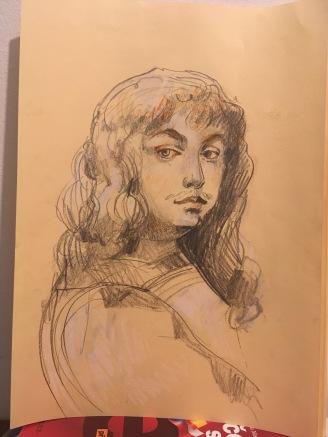 pencil drawing - young man