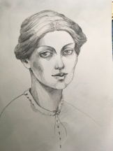 pencil drawing - young lady